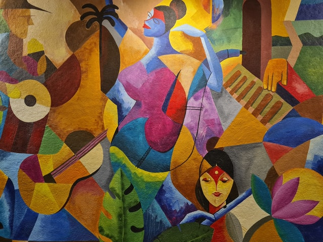 Painting of culture and music instruments